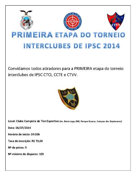 Torneio interclubes de IPSC CTCI, CCTE & CTVV 2014