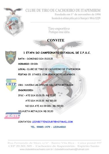 CONVITE  I ETAPA IPSC 2015 CTCI