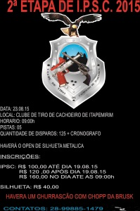 CONVITE DO IPSC 2015 II ETAPA