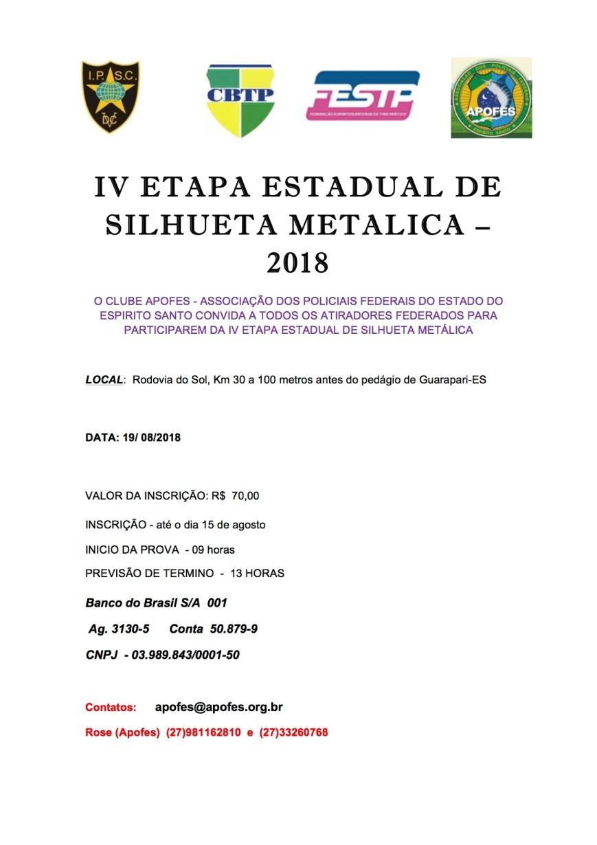 convite silhueta metalica APOFES 2018