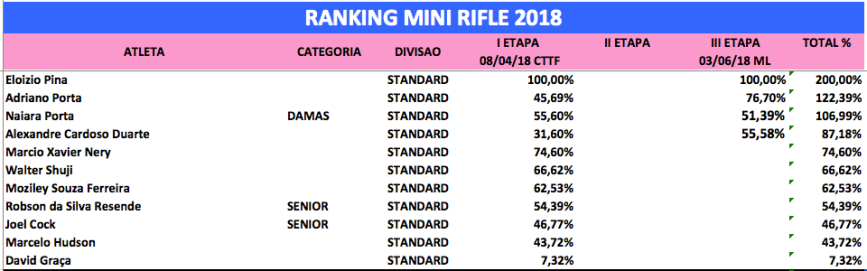 mini rifle standard