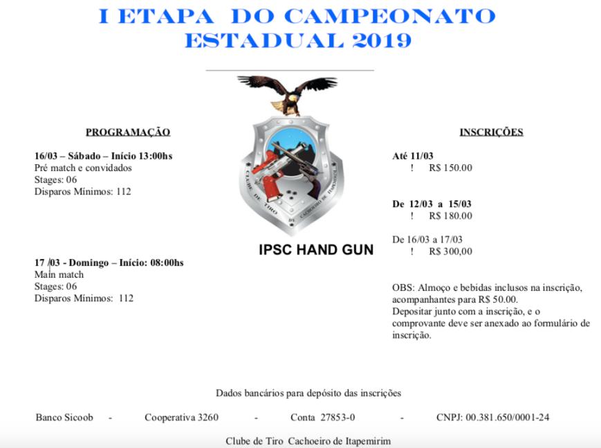 CONVITE I ETAPA 2019